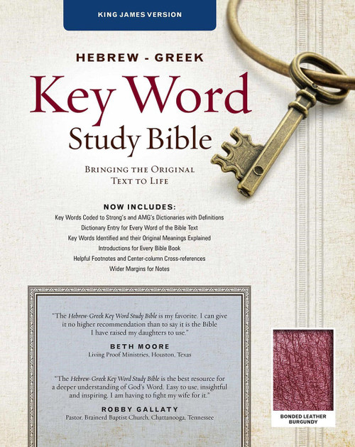 """<p>The Hebrew Greek Key Word Study Bible, King James Version, is a complete English Bible text for cross-reference study to the original languages from which the Bible was translated. In addition, there are extensive exegetical footnotes explaining the most difficult passages of the Old and New Testaments.<br><br>Key Features:</p> <p><br> Introductions for each book of the Bible<br> Footnotes on original languages, Bible history, Bible doctrines, and difficult passages <br> Words of Christ in red<br> Strong's numbers for key words<br> Grammatical codes on key words in the New Testament <br> Table of weights and measures<br> AMG's Concordance of the Bible<br> AMG's Annotated Strong's Hebrew &amp; Greek dictionaries<br> Wider margins than previous editions, now full 1""""<br> Revised digital color maps</p> <p></p> <p>Author: Spiros Zodhiates</p> <p></p>"""