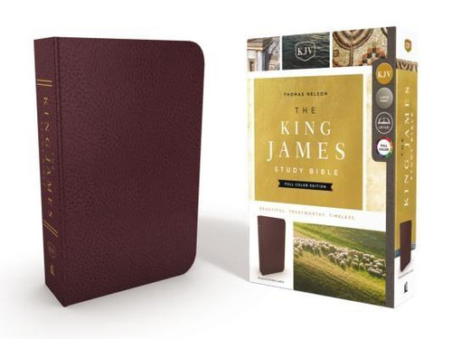 <p>Standing apart from all other KJV study Bibles on the market, <strong><em>the King James Study Bible, Full Color Edition</em></strong> is the only Bible featuring extensive commentary, doctrinal notes, archaeological insights, and time-tested study aids developed exclusively for the King James Version. Now available with stunning full-color designs, Holy Land images, classic works of art, charts, and maps, <em>the King James Study Bible, Full Color Edition</em> guides you through the vivid beauty and authority of God's Word as you grow in your biblical knowledge.</p><p>For over a quarter of a century, Thomas Nelson has earned the trust of millions with the best-selling King James Study Bible, offering the standard of conservative KJV scholarship. Our tradition and commitment to KJV study continues with the release of <em>the King James Study Bible, Full Color Edition</em>.</p><p><strong>Features include: </strong></p><ul> <li>Beautiful full-color throughout</li> <li>Easy-to-read 10-pt type large print</li> <li>5,700 authoritative and study notes</li> <li>Center-column references with translation notes</li> <li>Hundreds of color maps and charts</li> <li>Over 100 archaeological notes</li> <li>Over 100 personality profiles</li> <li>Over 200 notes on Christian doctrines</li> <li>Easy-to-navigate topical indexes</li> <li>Book introductions and outlines</li> <li>Word-study concordance</li> <li>Time-honored KJV Bible text</li> </ul><br><br><b>Author:</b> Thomas Nelson<br><b>Publisher:</b> Thomas Nelson<br><b>Published:</b> 08/08/2017<br><b>Pages:</b> 2368<br><b>Binding Type:</b> Bonded Leather<br><b>Weight:</b> 4.20lbs<br><b>Size:</b> 10.00h x 7.30w x 2.40d<br><b>ISBN:</b> 9780718079796<br><b>Large Print</b>
