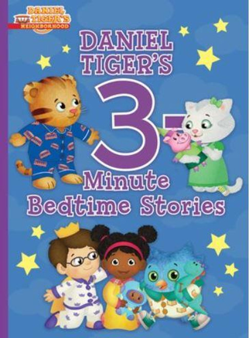 """<p><b data-mce-fragment=""""1"""">A new generation of children love<span data-mce-fragment=""""1""""></span><i data-mce-fragment=""""1"""">Daniel Tiger's Neighborhood</i>, inspired by the classic series<span data-mce-fragment=""""1""""></span><i data-mce-fragment=""""1"""">Mister Rogers' Neighborhood</i>!</b></p> <p><span data-mce-fragment=""""1""""><b></b><br></span><b data-mce-fragment=""""1"""">Twelve of Daniel Tiger's most grr-ific adventures are now available in one dazzling edition--perfect for sleepy Daniel Tiger fans!</b><span data-mce-fragment=""""1""""></span></p> <p data-mce-fragment=""""1""""><br data-mce-fragment=""""1""""></p> <span data-mce-fragment=""""1"""">Whether he's playing in the snow, exploring nature at night, or visiting family, Daniel Tiger loves making friends and going on new adventures! Would you like to come along? This treasury includes twelve of Daniel's most grr-ific stories, each of which can be read aloud in three minutes. This sweet collection is perfect for little tigers who are settling down for bedtime and want to hear just one more story!</span> <p data-mce-fragment=""""1""""><br data-mce-fragment=""""1""""></p> <p><i data-mce-fragment=""""1"""">Daniel Tiger's 3-Minute Stories<span data-mce-fragment=""""1""""></span></i><span data-mce-fragment=""""1"""">features:</span><br data-mce-fragment=""""1""""><i data-mce-fragment=""""1"""">Friends are the Best</i><span data-mce-fragment=""""1""""></span><br data-mce-fragment=""""1""""><i data-mce-fragment=""""1"""">Snowflake Day</i><span data-mce-fragment=""""1""""></span><br data-mce-fragment=""""1""""><i data-mce-fragment=""""1"""">Big Brother Daniel</i><span data-mce-fragment=""""1""""></span><br data-mce-fragment=""""1""""><i data-mce-fragment=""""1"""">How Is Daniel Feeling?</i><span data-mce-fragment=""""1""""></span><br data-mce-fragment=""""1""""><i data-mce-fragment=""""1"""">What's Special at Night</i><span data-mce-fragment=""""1""""></span><br data-mce-fragment=""""1""""><i data-mce-fragment=""""1"""">A Duckling for Daniel</i><span data-mce-fragment=""""1""""></span><br data-mce-fragment=""""1""""><i data-mce-fragment=""""1"""">You're Still You!</i><span data-mce-fragment=""""1""""></span><b"""