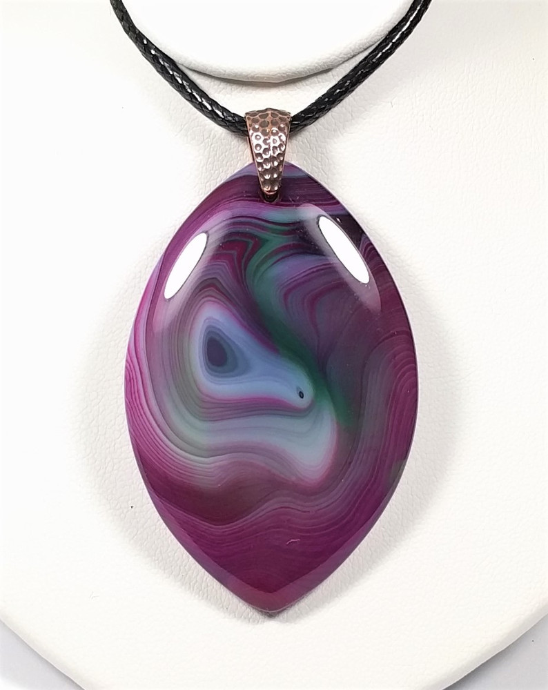 Beautiful Multi-Color Striped Agate Pendant