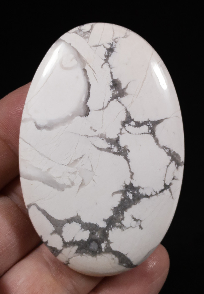 Extra Large Howlite Oval Cabochon - inverted