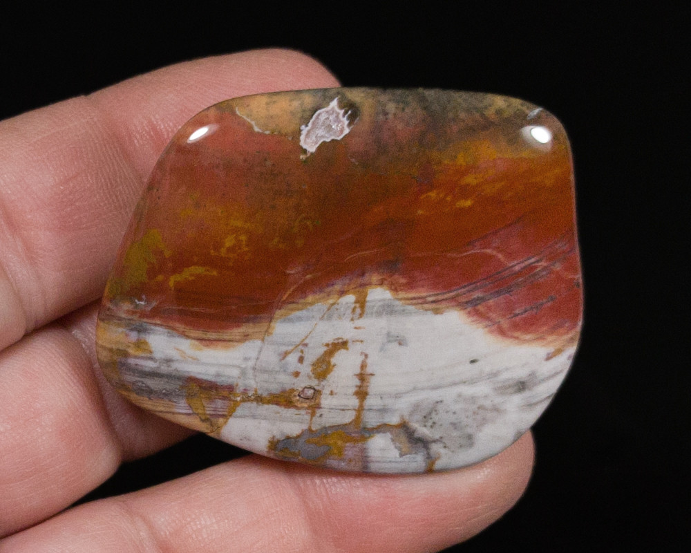 Excellent Rainbow Flint Palm Stone, 41.2 g - view 2