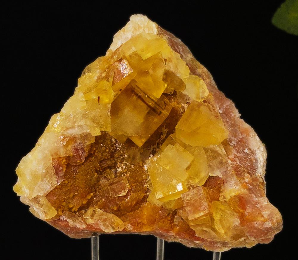 Fluorescent Yellow Cubic Fluorite Mineral Specimen, 52x50x34 mm, 75g  - close-up view