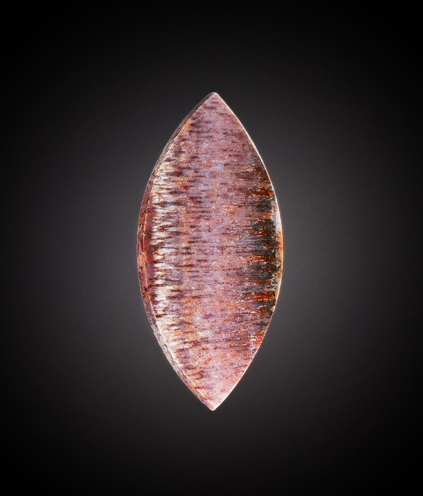 Amazing Mexican Agate Cabochon, 45x21x4mm, 29.7 cts
