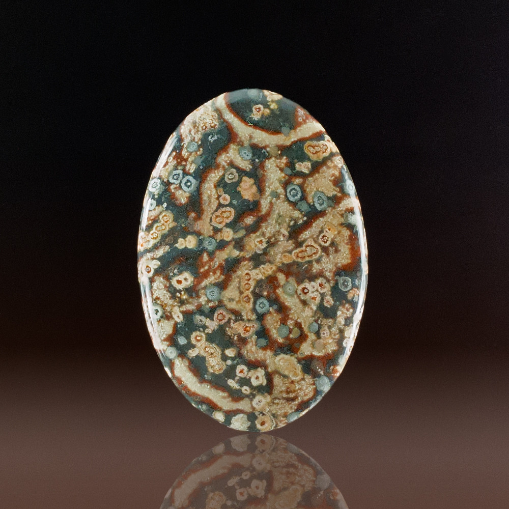 Beautiful Monevea Rhyolite Cabochon, 48x32x5mm, 54 cts