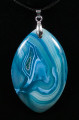 Blue Striped Agate Pendant Stone - view 3