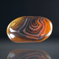 "Unusual Madagascar Banded Agate, 2.3x1.3"", 63.7g  - rear side"