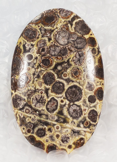 Lovely Large Bird's Eye Rhyolite Cabochon From Madagascar, Oval, 72x45x6mm, 131 cts (NF303)