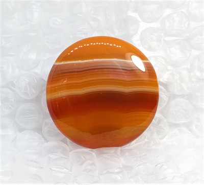 Large Red Botswana Banded Agate Cabochon
