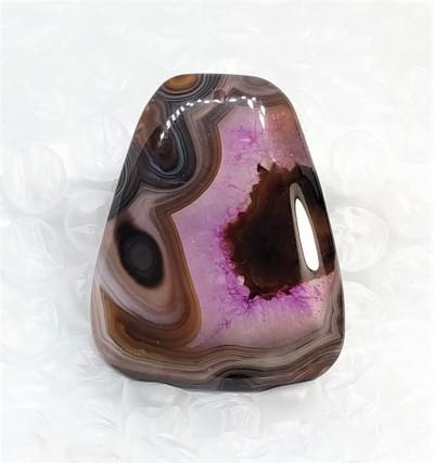 Purple Druzy Agate Pendant Bead