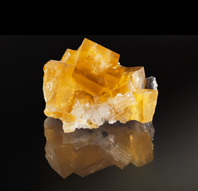 Fluorescent Yellow Cubic Fluorite Mineral Specimen from Morroco, 44x32mm
