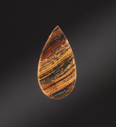Beautiful Petrified Wood Cabochon, 37x19x4mm, 22.3 cts