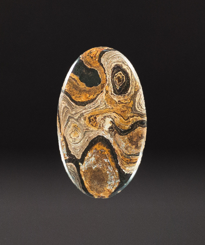 Natural Stromatolite Cabochon, 45x26x5mm, 49 cts