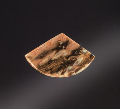 Sweet Peanut Wood Jasper Cabochon, 43x27x5.5mm, 37 cts