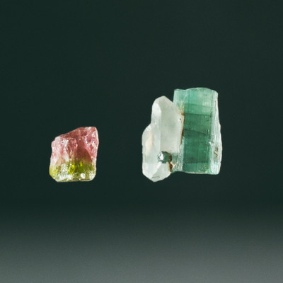 Pair of Tourmaline Crystals, 22.85 cts in total