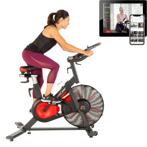 FITNESS REALITY 9000 'High Intensity' Air Resistance Indoor Cycling Exercise Bike with Free App