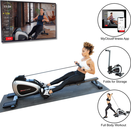 FITNESS REALITY 1000 PLUS Bluetooth Magnetic Rower with Extended Optional Full Body Exercises and Free App
