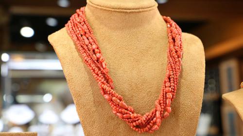 Multi- Strand Coral Necklace