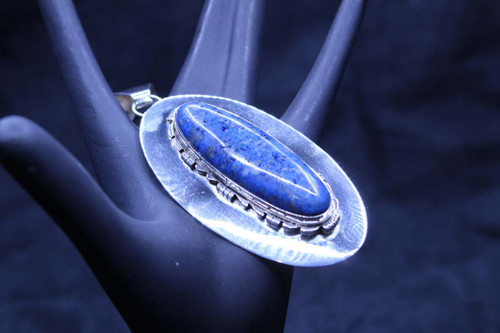 Sterling Silver Denim Lapis Pendant