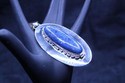 Sterling Silver Denim Lapis Pendant