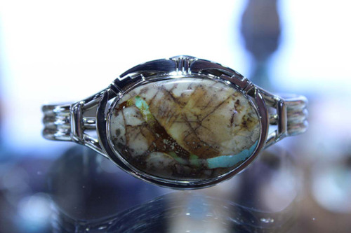 Sterling Silver Boulder Turquoise Bracelet SS15717