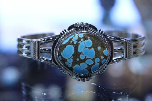 Sterling Silver Boulder Turquoise Bracelet SS15718