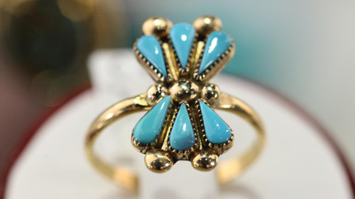 14K Gold With Turquoise Ring SS16030