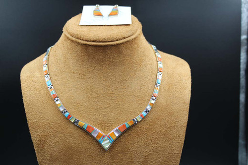 Multi Color Necklace Earring Set SS16094
