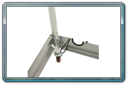 Bungee Cord to Hold Stanchions in Place