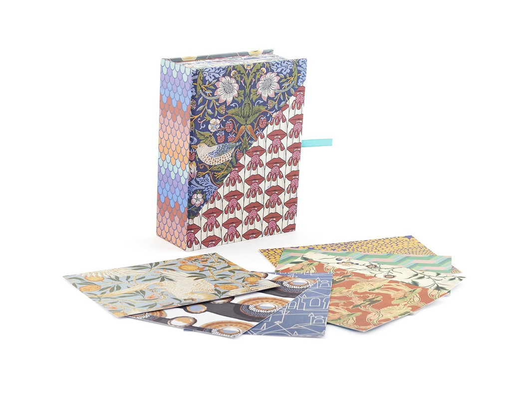 V & A pattern postcard set