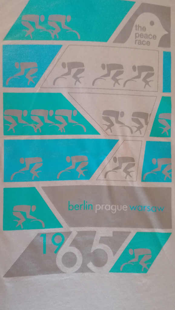 Turquoise and blue print