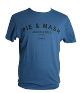 pie and mash on a soft retro denim T shirt