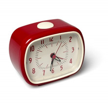 Retro style red alarm clock