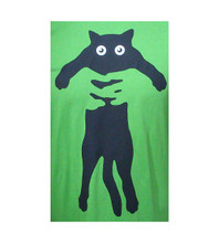 Flat Cat T-Shirt - Green