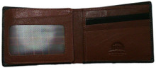 leather 2 fold wallet