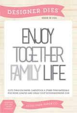 Family Word Die Set