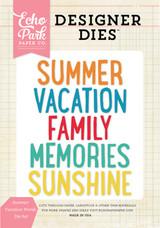 Summer Words Die Set