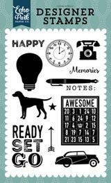 Ready Set Go 4x6 Stamp