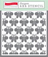 6x6 Stencil - Butterflies #2