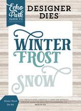 Winter Words Die Set