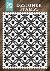 Quilted Floral A2 Background Stamp