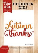 Autumn Thanks Die Set
