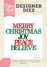 Christmas Joy Word Die Set