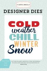 Winter Weather Word Die Set