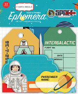 Space Academy Frames & Tags Ephemera
