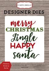 Christmas Words #3 Die Set
