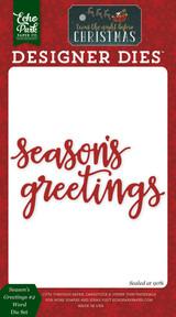 Season's Greetings Word #2 Die Set