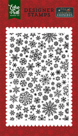 Shimmering Snowflake A2 Background Stamp