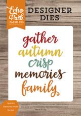 Autumn Memories Word Die Set
