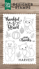 Thankful & Blessed 4x6 Stamp